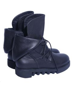 Black Leather Martin Boots