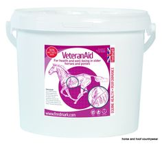 Feedmark Veteranaid A 100 herbal feed supplement containing a blend of seven herbs carefully chosen for their beneficial effects on the body systems of older horses and ponies.