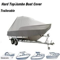 Boat Cover, Jumbo or HT Trailerable to Long Term Storage, Top Boat, Boat Covers, Boat Accessories, Boats, Baby Strollers, Cabin, Colours, Grey