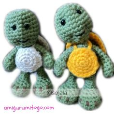 Amigurumi To Go!: Little Bigfoot Turtle Free Crochet Turtle Pattern
