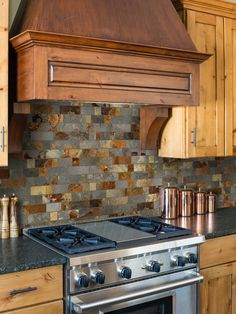 Mosaic backsplash - Rusty Brown Slate Mosaic Backsplash Tile For Traditional Kitchen – Mosaic backsplash