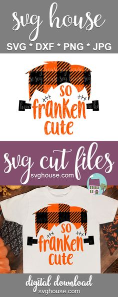 So Franken Cute Buffalo Plaid SVG cutecuts Halloween Crafts To Sell, Halloween Kids, Halloween Decorations, Christmas Decorations, Vinyl Crafts, Vinyl Projects, Silhouette Files, Silhouette Cameo, Back To School Gifts