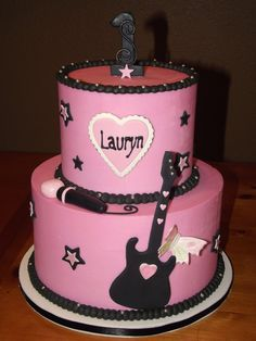 girls rockstar birthday cakes - Google Search