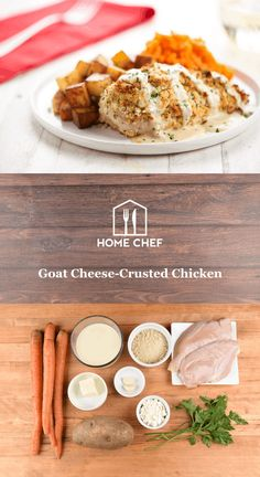 Now is your chance to take your chicken breast game to new heights when you top it with this crispy goat cheese crust. Start by stirring the panko-goat cheese mixture together, pressing it onto a chicken breast, and tossing it in the oven. Serve it next to oven-roasted potatoes and a carrot mash, and you have a meal that's a real stunner.