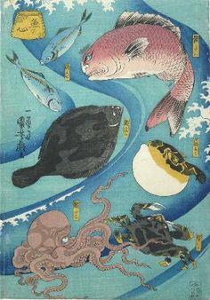 Utagawa Kuniyoshi 魚の心