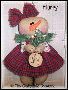 The Craftaholic Creations Christmas Artwork, Christmas Snowman, Primitive Christmas, Xmas, Primitive Snowmen, Snowman Decorations, Snowman Crafts, Sock Snowman, Christmas Craft Projects