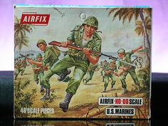 Airfix US Marines Army WWII Battleground Soldiers 1 72 Scale Vintage Box Set | eBay #toysoldiers #vintagetoys #oldtoysandcollectables