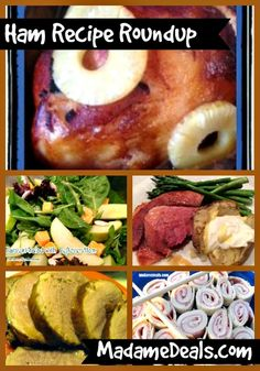 Recipes for Ham Roundup http://madamedeals.com/ham-recipe-roundup/ #hamrecipes #inspireothers