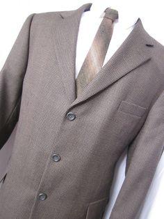 Coat 44 Short Balmain Paris Tweed Wool Brown Overcoat Top Brown