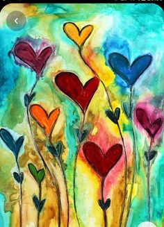 Decorate your home with unique love paintings & heart paintings available for sale at Ivan Guaderrama Art Gallery. You can also choose from heart paintings on canvas! Valentines Watercolor, Valentines Art, Heart Painting, Love Painting, Art Journal Inspiration, Painting Inspiration, Alcohol Ink Art, Heart Art, Whimsical Art