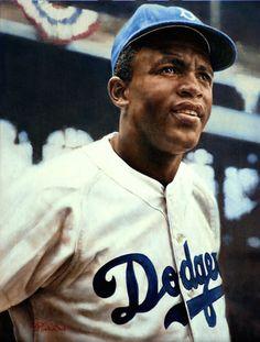 Baseball Art - Jackie Robinson by Ron Stark Baseball Posters, Baseball Art, Baseball Quotes, Baseball Pictures, Dodgers Baseball, Baseball Guys, Baseball Stuff, Football, Jackie Robinson