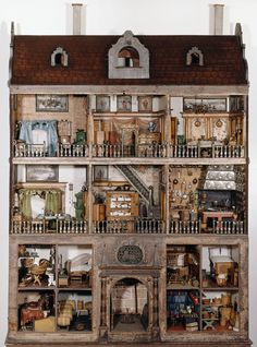 The extraordinary Nürnberg dolls' houses are the core of the toy c. The extraordinary Nürnberg dolls' houses are the core of the toy collection display
