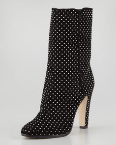 I thought the pump was amazing; how about these boots? Tari Studded Suede Ankle Boot, Black by Jimmy Choo at Neiman Marcus.