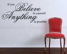 Anything is possible Wall Quotes decals Removable stickers decor Vinyl art-large