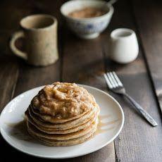 Hazelnut Pancakes with Roasted Rhubarb Cardamom Compote Recipe
