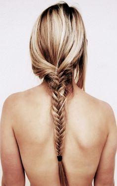 Blonde fishtail