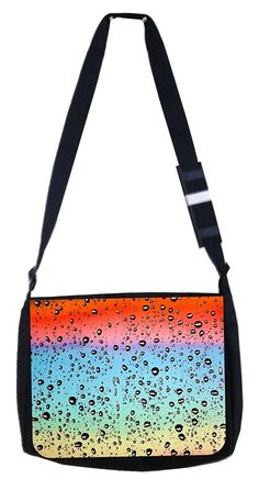 Ombre droplets Rosie Parker Inc. TM Medium Sized Messenger Bag 11.75' x 15.5' -- To view further for this item, visit the image link. (This is an Amazon Affiliate link and I receive a commission for the sales)