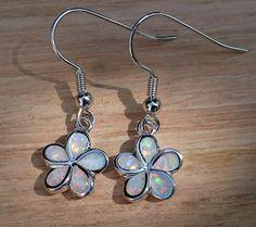 Beautiful Ladies White Fire Opal Flower Daisy Earrings with Gift Pouch   | eBay