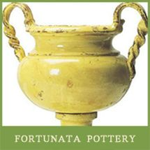 The Southern Home, a division of Outer Banks Trading Group, is the largest online retailer of Fortunata Ceramic Pottery.  Each piece is an elegant and timeless work of art.  Fortunata Pottery has been a favorite of ours for years.  We have multiple pieces throughout our own home.  Start your collection today!