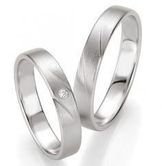 Trauringe Maira ...333 Weißgold by verlobungsring.de #brillant #wedding #weißgold