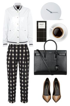 """""""Temperley London checked pants"""" by thestyleartisan ❤ liked on Polyvore featuring Yves Saint Laurent, Temperley London, Rihanna For River Island, Menu, women's clothing, women's fashion, women, female, woman and misses"""