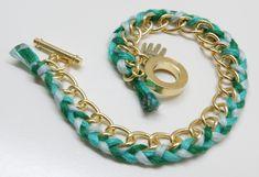 Armbänder selber machen gold DIY Anleitung Variante 2