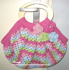 My passion for colors: Big Granny Square tas + portemonnee