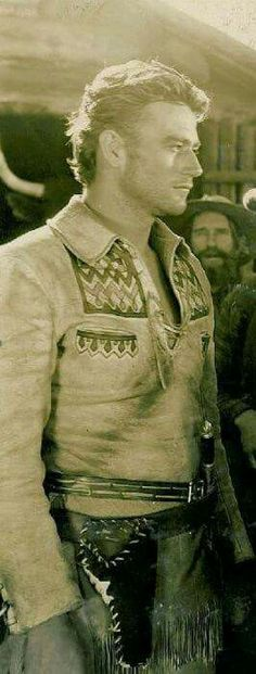 RARE PHOTO. Young John Wayne. Wow was he good looking! I thought it was Clint