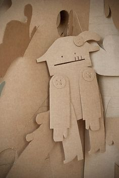 movement - DIY Cardboard Puppets, marionette, recycled art
