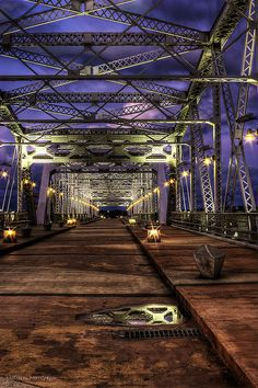 Shelby Street Pedestrian Bridge in Downtown, Nashville, TN.