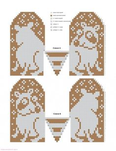 Graph Only.easy enough to figure out Knitting Charts, Knitting Stitches, Hand Knitting, Knitting Patterns, Craft Patterns, Knitted Mittens Pattern, Knit Mittens, Knitted Gloves, Beaded Cross Stitch