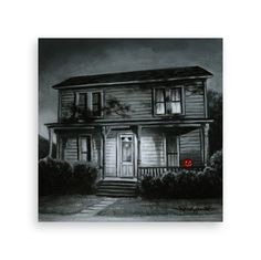 Artwork Measurements: x on wood panel. Halloween Film, Halloween House, Halloween Tattoo, Halloween Season, Halloween Stuff, Happy Halloween, Father Daughter Tattoos, Tattoos For Daughters, Slasher Movies