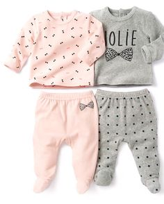 ac58e2bac Image Lote de pijamas com 2 peças em veludo R baby. La Redoute Nordic