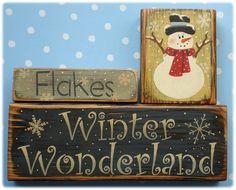 Winter Wonderland Shelf Sitter (hand Painted Wood)