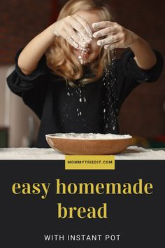 Make bread at home with your Instant Pot, it's easy! Instant Yeast, Instant Pot, Easy Bread, Plain Greek Yogurt, It's Easy, Homemade, Cooking, Kitchen, Home Made