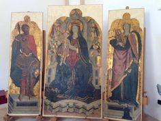 Il Trittico del Pavanino da Palermo, capolavoro rinascimentale del 1472 trafugato dalla chiesa di S. Biagio nel 1990, è stato ritrovato, restaurato ed ha fatto ritorno a #Eboli, nella chiesa di S. Francesco.