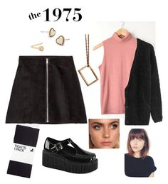 """the 1975 concert"" by beccahimes on Polyvore featuring H&M, Gioelli Designs, Demonia, Calvin Klein and American Vintage"