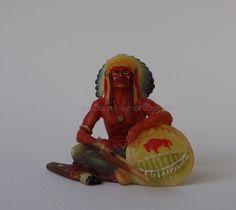 Hausser Elastolin Ref : 6839 Chef indien assis avec son arc 1ère peinture