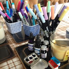My travelling art supplies - the things i feel I can't leave behind  Sometimes when you travel a lot there is such joy in simply being near a chunk of your art supplies. This constitutes a fair amount of suitcase space - which is a big commitment for a digital nomad. you've got to be sure you're going to use something regularly to give it precious bag real estate.  So inevitably a few things get left behind. A color I don't use something new but in a bulky box. This trip I've dug out lots of…