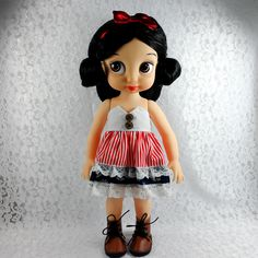 """Clothes for Disney Princess Animators Handmade Dress Outfit-16"""" Dolls Red White #ClothingAccessories"""