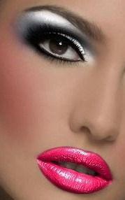 silver eye make up.
