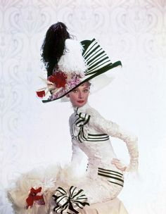 My Fair Lady Audrey Hepburn as Eliza Doolittle. Publicity still with Ascot Opening Day costume & hat. All designed by Cecil Beaton. My Fair Lady, Audrey Hepburn Poster, Audrey Hepburn Photos, Golden Age Of Hollywood, Vintage Hollywood, Hollywood Stars, Vanity Fair, Caroline Reboux, Magazine Vogue