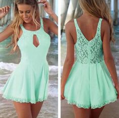 Image via We Heart It #cute #lindo #verde #vestido #menta