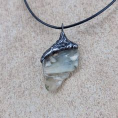 Magical Prehnite pendant necklace  the way by NaturesArtMelbourne