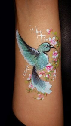 HokeyPokey - Gallery - Face Painting - Hobbies paining body for kids and adult Girl Face Painting, Leg Painting, Belly Painting, Face Painting Tutorials, Face Painting Designs, Animal Face Paintings, Skin Paint, Body Paint, Fairy Makeup