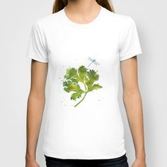 Dragonfly Two T-shirt - Woman's White Fitted Tee - $18.00
