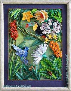 Картина панно рисунок Квиллинг Квиллинг Бумага Бумажные полосы фото 5