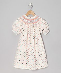 Take a look at this Orange Polka Dot Lady Bishop Dress - Infant, Toddler & Girls by Sweet Dreams on #zulily today!
