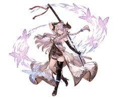 View an image titled 'Narmaya Art' in our Granblue Fantasy art gallery featuring official character designs, concept art, and promo pictures. Female Character Design, Character Design References, Character Concept, Character Art, Concept Art, Anime Fantasy, Fantasy Girl, Fantasy Characters, Female Characters