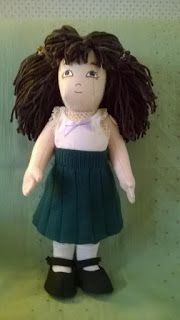 Zisa doll with hand knitted skirt